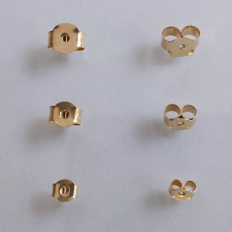 9 ct Yellow Gold Stud Earring Butterfly Scrolls